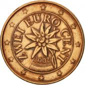 Autriche, 2 Euro Cent, 2002, SUP+, Copper Plated Steel, KM:3083