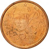 France, Euro Cent, 2000, SUP+, Copper Plated Steel, KM:1282
