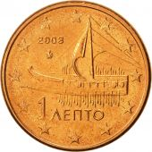 Greece, Euro Cent, 2003, MS(63), Copper Plated Steel, KM:181