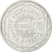 France, 10 Euro, Martinique, 2012, SPL, Argent, KM:1879