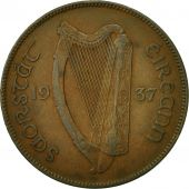 IRELAND REPUBLIC, Penny, 1937, TTB, Bronze, KM:3