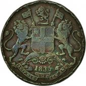 INDIA-BRITISH, 1/4 Anna, 1835, TB, Cuivre, KM:446.2