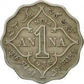 INDIA-BRITISH, George V, Anna, 1936, TB+, Copper-nickel, KM:513