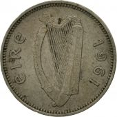 IRELAND REPUBLIC, 3 Pence, 1961, TTB, Copper-nickel, KM:12a
