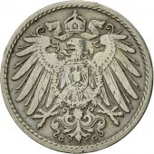 GERMANY - EMPIRE, Wilhelm II, 5 Pfennig, 1898, Karlsruhe, TTB, Copper-nickel