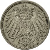 GERMANY - EMPIRE, Wilhelm II, 5 Pfennig, 1908, Berlin, TTB, Copper-nickel, KM:11