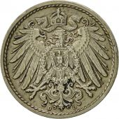 GERMANY - EMPIRE, Wilhelm II, 5 Pfennig, 1908, Munich, EF(40-45), Copper-nickel