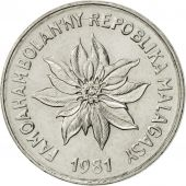 Madagascar, 5 Francs, Ariary, 1981, Paris, SUP, Stainless Steel, KM:10