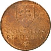 Slovaquie, 50 Halierov, 1998, TTB, Copper Plated Steel, KM:35