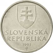 Slovaquie, 5 Koruna, 1993, TTB, Nickel plated steel, KM:14