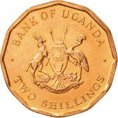 Uganda, 2 Shillings, 1987, SPL, Copper Plated Steel, KM:28