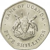 Uganda, 5 Shillings, 1987, MS(63), Nickel plated steel, KM:29