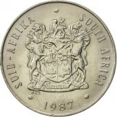 South Africa, 20 Cents, 1987, AU(55-58), Nickel, KM:86