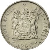 South Africa, 10 Cents, 1987, EF(40-45), Nickel, KM:85
