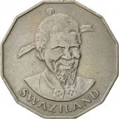 Swaziland, Sobhuza II, 50 Cents, 1981, British Royal Mint, TTB, Copper-nickel
