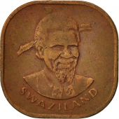 Swaziland, Sobhuza II, 2 Cents, 1974, British Royal Mint, TTB, Bronze, KM:8
