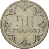 États de lAfrique centrale, 50 Francs, 1976, Paris, SUP, Nickel, KM:11