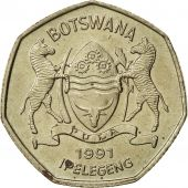 Botswana, Pula, 1991, British Royal Mint, SUP, Nickel-brass, KM:24