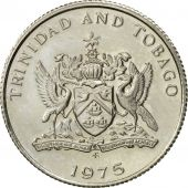 TRINIDAD & TOBAGO, 10 Cents, 1975, Franklin Mint, AU(55-58), Copper-nickel