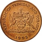 TRINIDAD & TOBAGO, 5 Cents, 1995, Franklin Mint, AU(55-58), Bronze, KM:30