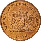TRINIDAD & TOBAGO, Cent, 1994, Franklin Mint, AU(55-58), Bronze, KM:29