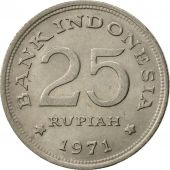 Indonésie, 25 Rupiah, 1971, SUP, Copper-nickel, KM:34