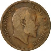 INDIA-BRITISH, Edward VII, 1/4 Anna, 1907, Calcutta, EF(40-45), Bronze, KM:502