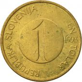 Slovenia, Tolar, 1993, EF(40-45), Nickel-brass, KM:4