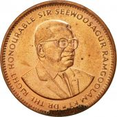 Mauritius, 5 Cents, 1990, AU(50-53), Copper Plated Steel, KM:52