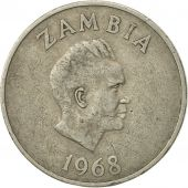 Zambia, 20 Ngwee, 1968, British Royal Mint, EF(40-45), Copper-nickel, KM:13