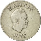 Zambia, 10 Ngwee, 1978, British Royal Mint, EF(40-45), Copper-Nickel-Zinc, KM:12
