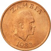 Zambia, Ngwee, 1983, British Royal Mint, AU(50-53), Copper Clad Steel, KM:9a
