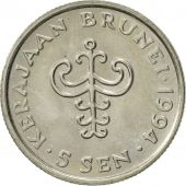 BRUNEI, Sultan Hassanal Bolkiah, 5 Sen, 1994, SUP, Copper-nickel, KM:35