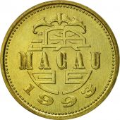 Macau, 10 Avos, 1993, British Royal Mint, SUP, Laiton, KM:70