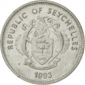 Seychelles, 25 Cents, 1993, Pobjoy Mint, AU(55-58), Nickel Clad Steel, KM:49a