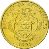 Seychelles, 10 Cents, 1994, British Royal Mint, AU(55-58), Brass, KM:48.2
