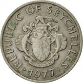 Seychelles, 25 Cents, 1977, British Royal Mint, EF(40-45), Copper-nickel, KM:33