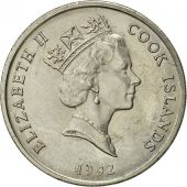 Îles Cook, Elizabeth II, 10 Cents, 1992, Franklin Mint, SUP, Copper-nickel