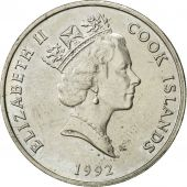 Îles Cook, Elizabeth II, 20 Cents, 1992, Franklin Mint, SUP, Copper-nickel