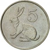 Zimbabwe, 5 Cents, 1990, EF(40-45), Copper-nickel, KM:2