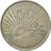 Zimbabwe, 50 Cents, 1990, EF(40-45), Copper-nickel, KM:5
