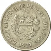 Pérou, 5 Soles, 1977, TTB, Copper-nickel, KM:267