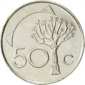 Namibia, 50 Cents, 1993, Vantaa, SUP, Nickel plated steel, KM:3