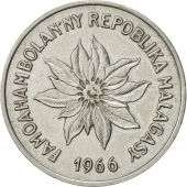 Madagascar, 5 Francs, Ariary, 1966, Paris, SUP, Stainless Steel, KM:10