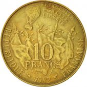 France, Gambetta, 10 Francs, 1982, Paris, TTB, Nickel-Bronze, KM:950