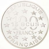 France, 100 Francs-15 Ecus, 1994, Big Ben, Argent, KM:1070
