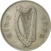 IRELAND REPUBLIC, 10 Pence, 1976, TTB, Copper-nickel, KM:23