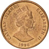 Îles Caïmans, Elizabeth II, Cent, 1996, SUP, Copper Plated Steel, KM:87a