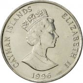 Îles Caïmans, Elizabeth II, 25 Cents, 1996, British Royal Mint, SUP+, Nickel