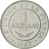 Bolivie, Boliviano, 1997, SUP, Stainless Steel, KM:205